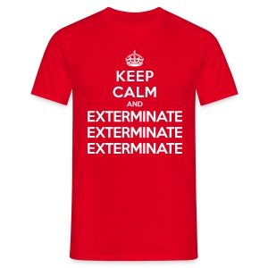 Keep calm and exterminate - maglietta Doctor Who - Men's T-Shirt