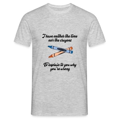 Crayons v1 - Men's T-Shirt