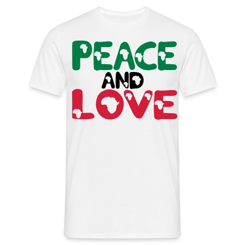 PEACE AND LOVE AFRICA T-SHIRT - Men's T-Shirt