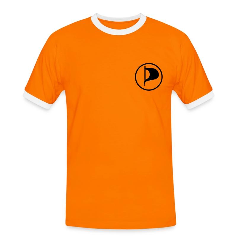 Piraten-Kontrastshirt Thüringen - Männer Kontrast-T-Shirt