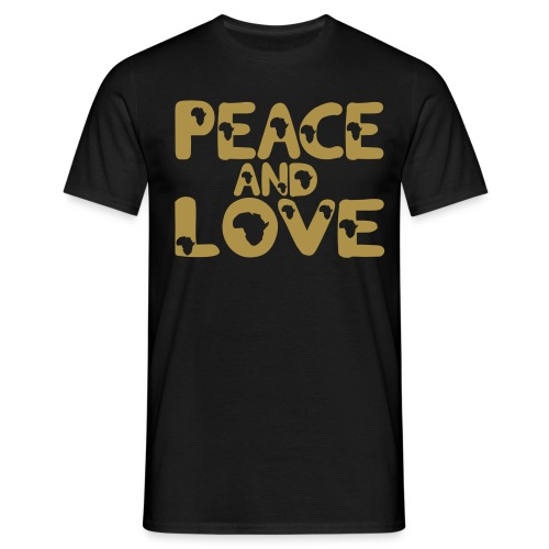 PEACE AND LOVE AFRICA T-SHIRT - Men's T-Shirt