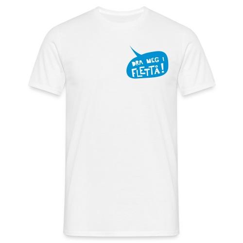 Dra meg i flettå t-skjorte m/logo hvit2 - T-skjorte for menn