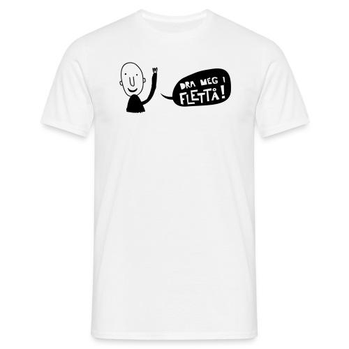 Dra meg i flettå t-skjorte m/mann+logo - T-skjorte for menn