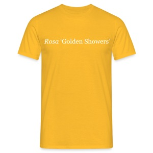 Rose Golden Showers (M) - Men's T-Shirt