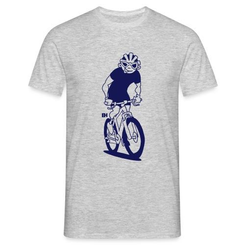 MTB - Un ciclista de montaña en su moutainbike Camisetas - Men's T-Shirt