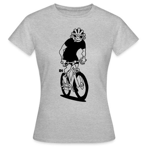 MTB - Un ciclista de montaña en su moutainbike Camisetas - Women's T-Shirt