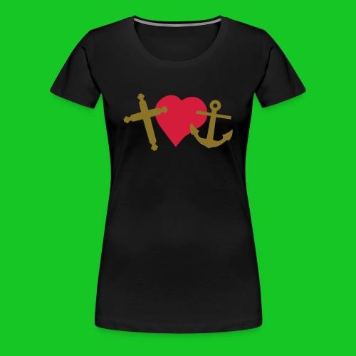 Geloof hoop en liefde dames t-shirt - Vrouwen Premium T-shirt