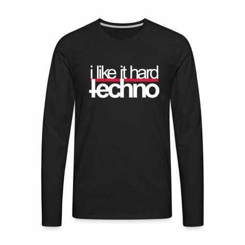 i like it hard - langarm Shirt - Männer Premium Langarmshirt