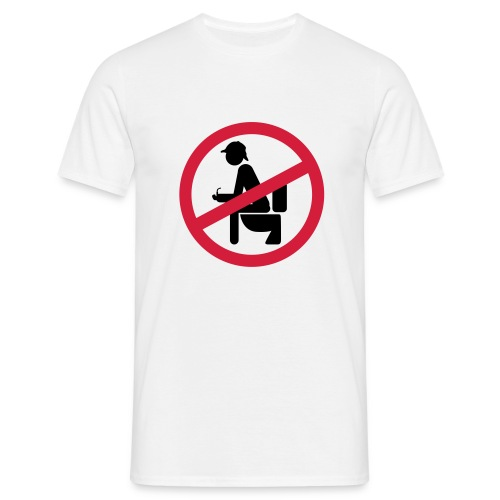 No shirt sherlock shirt - Mannen T-shirt