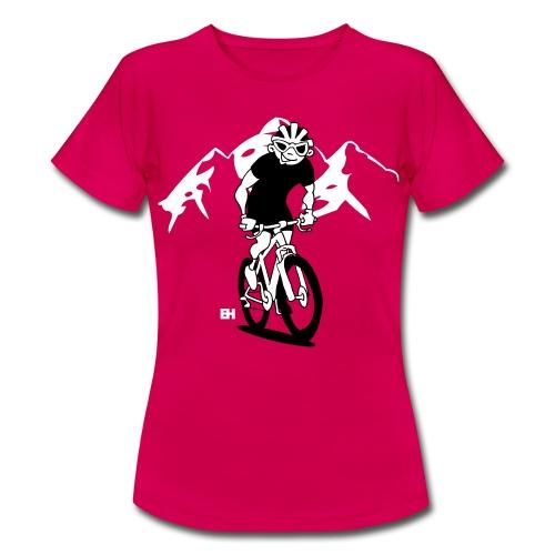 MTB - Ett berg cyklist på hans moutainbike T-shirts - Women's T-Shirt