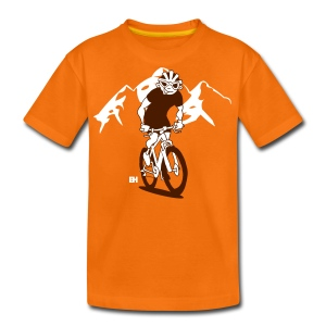 MTB - Een mountainbiker op zijn moutainbike - Teenager Premium T-shirt