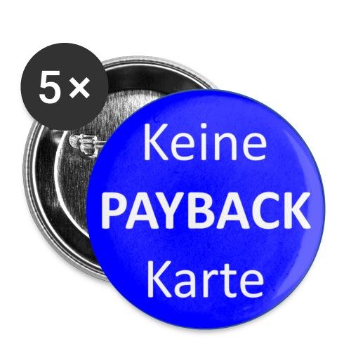 Keine PAYBACK Karte - Buttons klein 25 mm (5er Pack)