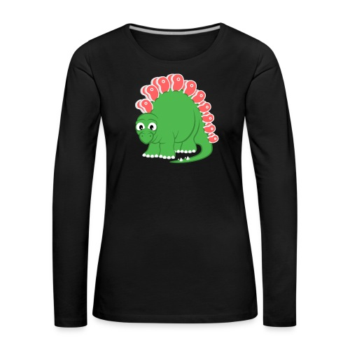 Steakosaurus (Langarmshirt Frauen) - Frauen Premium Langarmshirt
