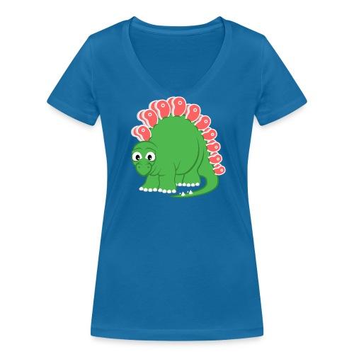 Steakosaurus (T-Shirt Frauen V-Ausschnitt) - Frauen Bio-T-Shirt mit V-Ausschnitt von Stanley & Stella