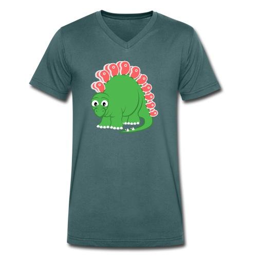 Steakosaurus (T-Shirt V-Ausschitt) - Männer Bio-T-Shirt mit V-Ausschnitt von Stanley & Stella