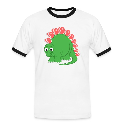 Steakosaurus (T-Shirt Kontrast) - Männer Kontrast-T-Shirt