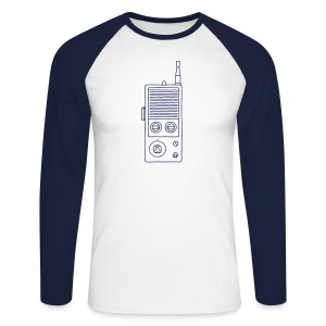 Funkgerät Walkie-Talkie - Männer Baseballshirt langarm