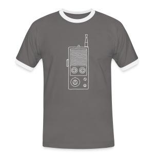 Funkgerät Walkie-Talkie - Männer Kontrast-T-Shirt