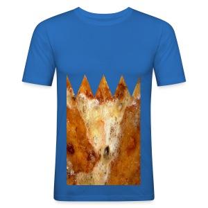 Schnitzel - Krone - Männer Slim Fit T-Shirt