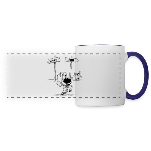Mug save your life - Mug panoramique contrasté et blanc