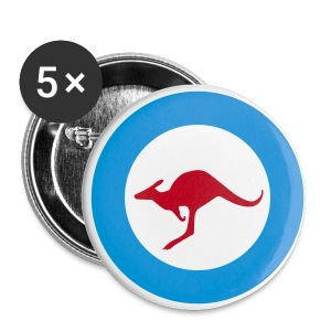 australia kangeroo - Buttons medium 32 mm
