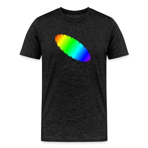 Shirt-Elypse-senkrecht-geschl - Männer Premium T-Shirt