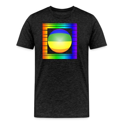 Shirt-Rahmen-Kugel-quer - Männer Premium T-Shirt
