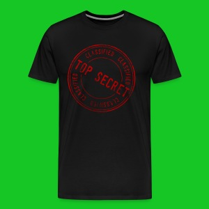 Top secret heren t-shirt - Mannen Premium T-shirt