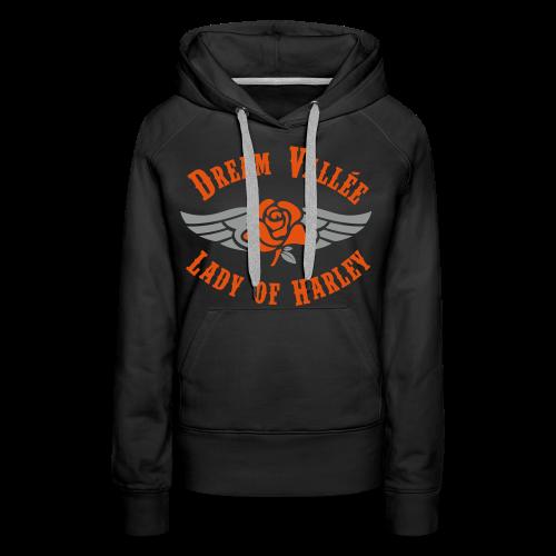 Sweat LOH Noir Logo Gris/Orange  - Sweat-shirt à capuche Premium pour femmes