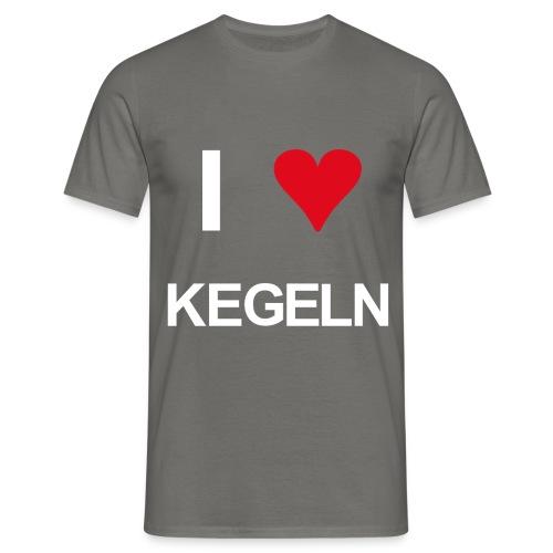I love kegeln - Männer T-Shirt