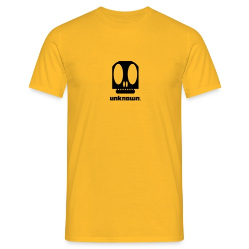 Yellow t-shirt with Unknown logo - Men's T-Shirt