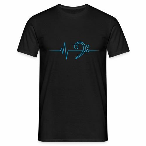 BassHeartBeat Black - Männer T-Shirt