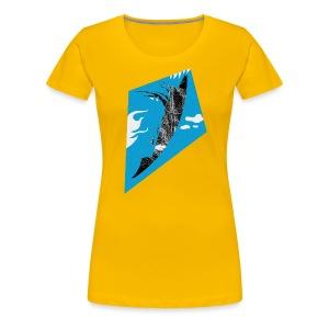 Fliegender Fisch/Vogel/Drachen - Frauen Premium T-Shirt