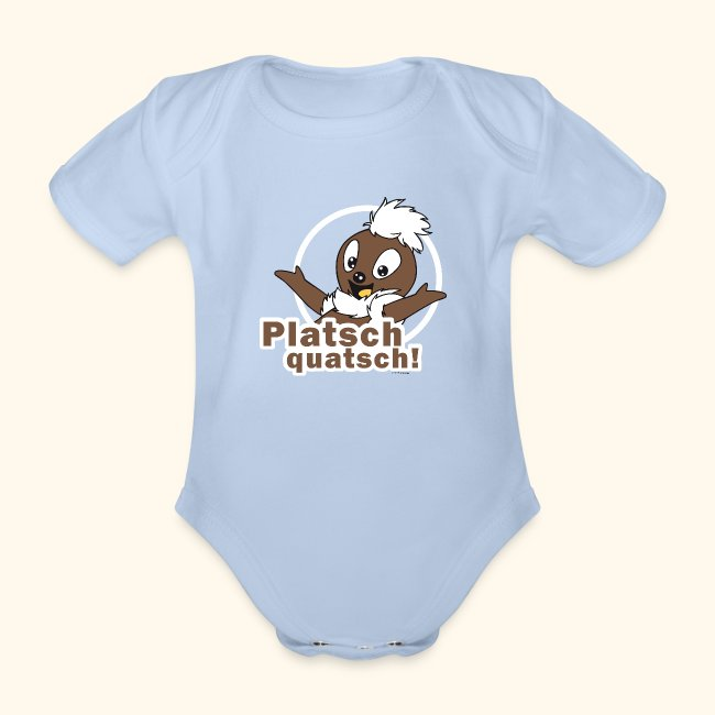 Baby Bio-Kurzarm-Body Spreadshirt Pittiplatsch Hallo Kita