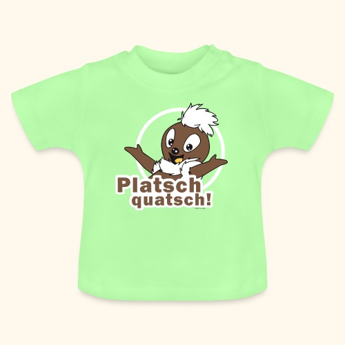 Baby T-Shirt Pittiplatsch Pittiplatsch Platschquatsch 2-f - Baby T-Shirt