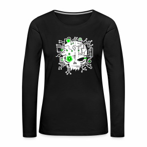 Digital Skull V2 - langarm Shirt - Frauen Premium Langarmshirt