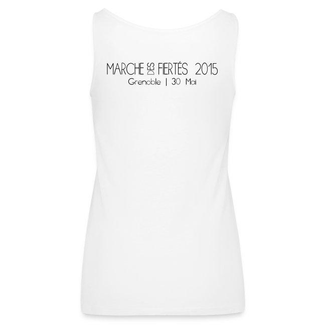 """Débardeur femme """"Je Suis"""" Fiertés 2015"""