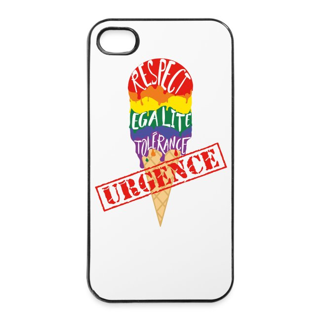 "Coque rigide iPhone 4/4S ""URGENCE"" Fiertés 2017"