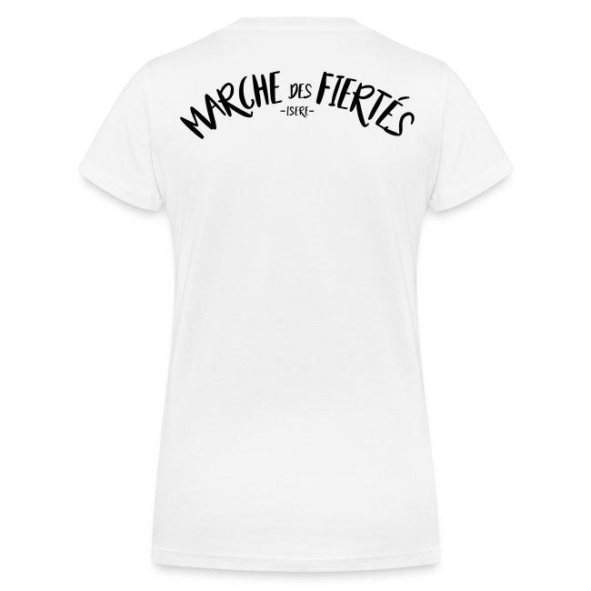 """T-shirt femme col V """"URGENCE"""" Fiertés 2017"""