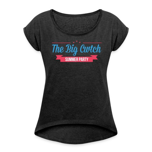 Women's Rolled Sleeve T-Shirt - Women's T-Shirt with rolled up sleeves