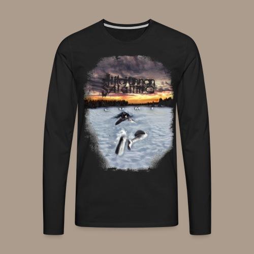Alitajunnan Salaliitto - Lumi pitkähihainen - Miesten premium pitkähihainen t-paita