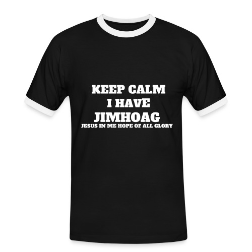 JIMHOAG(JESUS IN ME HOPE OF ALL GLORY TEE) - Men's Ringer Shirt