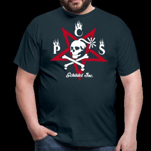 Ärsche müssen getreten werden - Pentagramm - Männer T-Shirt