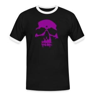 FOX' ies skull purple - Mannen contrastshirt