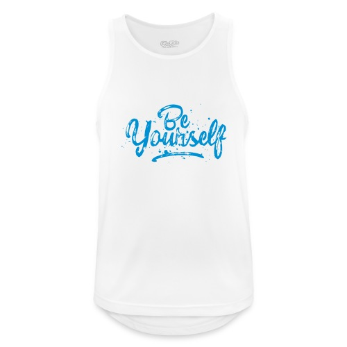 Be Yourself Typografie - Männer Tank Top atmungsaktiv