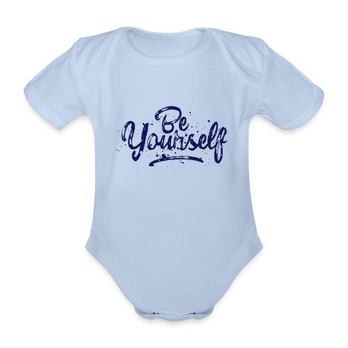 Be Yourself Typografie - Baby Bio-Kurzarm-Body