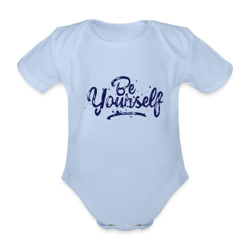 Be Yourself Typografie - Baby Bio-Kurzarm-Body