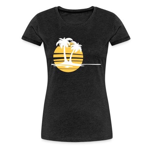 Holiday - Strand und Palmen - Frauen Premium T-Shirt