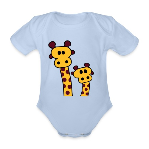 Baby One-piece Giraffes - Organic Short-sleeved Baby Bodysuit