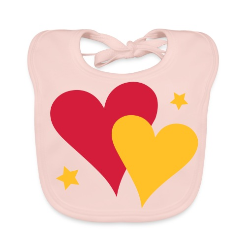 Baby Bib Pair of Hearts - Baby Organic Bib